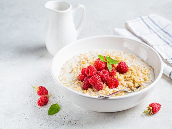 Raspberry breakfast idea